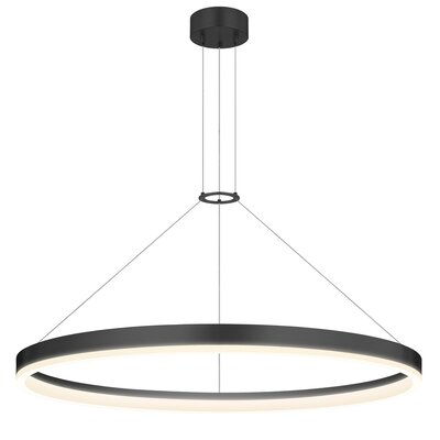 Corona 1-Light Pendant Finish: Satin Black, Size: 32 W