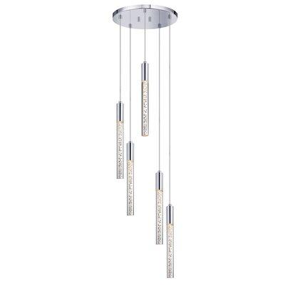Champagne Wands 5-Light Cascade Pendant
