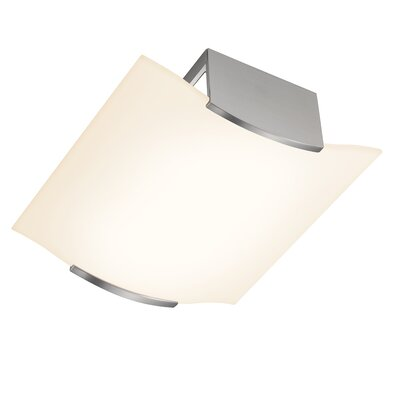 Wave 4-Light Flush Mount Finish: Satin Nickel