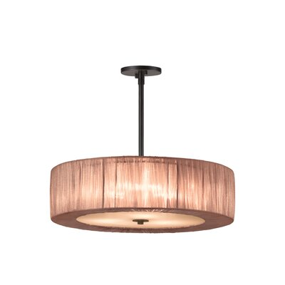 Organza Wrap 3-Light Pendant Shade Color: Bronze