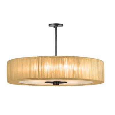 Organza Wrap 6-Light Pendant Shade Color: Gold