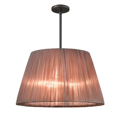Organza Wrap 3-Light Tapered Drum Pendant Shade Color: Bronze