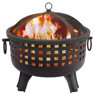 Garden Lights Savannah Fire Pit Color: Black