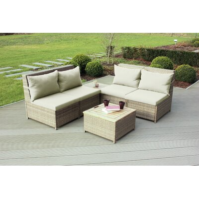 Schmidt 6 Piece Sectional Seating Group with Cushions