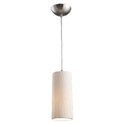 Cerama 1-Light Drum Pendant Shade Type: Cylinder