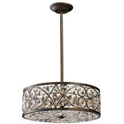Levron 6 Light Drum Pendant