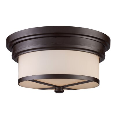 Flush Mount 2-Light Finish: Oiled Bronze