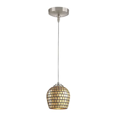 1-Light Mini Pendant Shade Color: Gold leaf, Bulb Type: 6W LED bulb