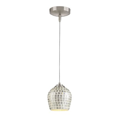 Knights 1-Light Mini Pendant Bulb Type: 50W mr16 bulb, Shade Color: Silver
