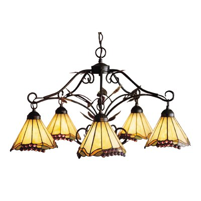 Grape Trellis 5-Light Shaded Chandelier