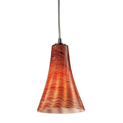 Chenault 1-Light Mini Pendant Shade Color: Dusk, Bulb Type: 60W Candelabra