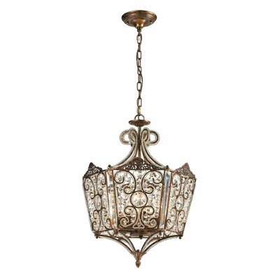 Villegosa 8-Light Foyer Pendant Finish: Spanish Bronze