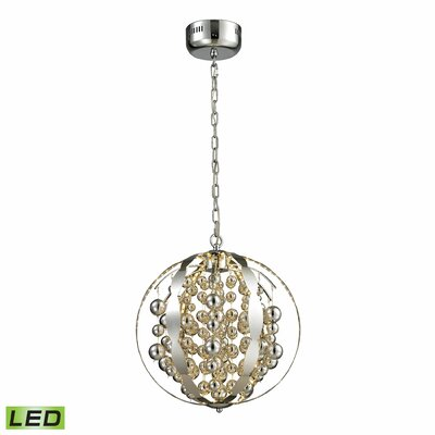 LED Integrated Bulb Cylinders Globe Pendant