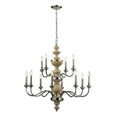 Stratford 12-Light Candle-Style Chandelier