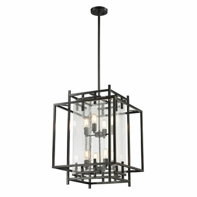 Intersections 8-Light Foyer Pendant