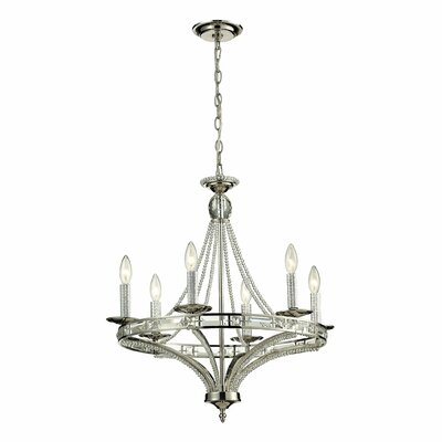 Aubree 6-Light Candle-Style Chandelier