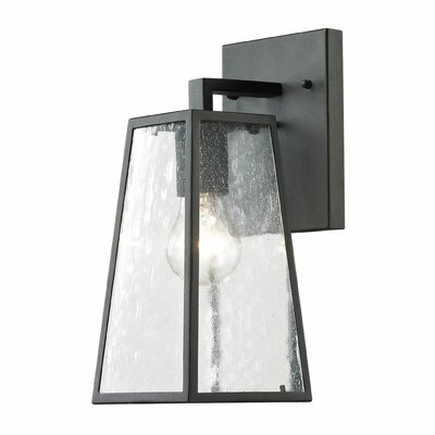Meditterano 1-Light Outdoor Wall lantern Size: 14 H x 5 W x 7 D
