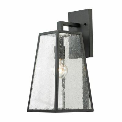 Meditterano 1-Light Outdoor Wall lantern Size: 18 H x 7 W x 8 D