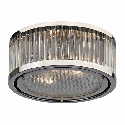 Linden 2-Light Flush Mount Finish: Polished Nickel