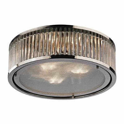 Linden 3-Light Flush Mount Finish: Polished Nickel