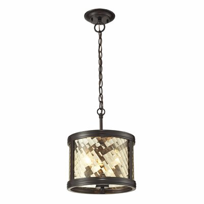 Chandler 3-Light Drum Pendant Finish: Oil Rubbed Bronze