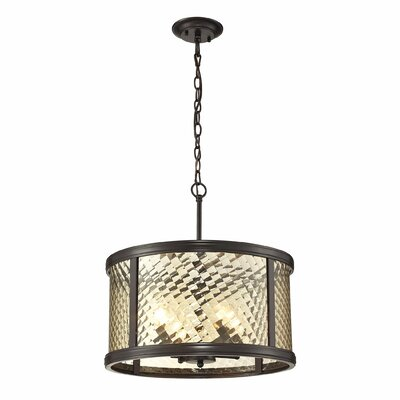 Chandler 4-Light Drum Pendant Finish: Oil Rubbed Bronze