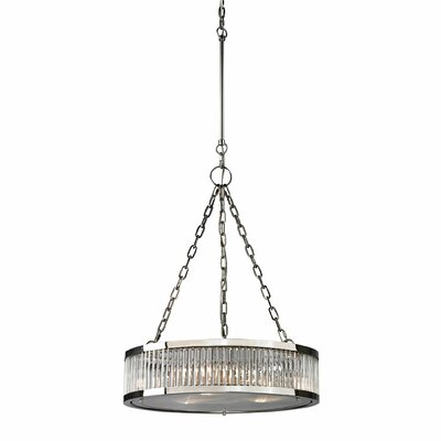 Linden 3-Light Drum Pendant Finish: Polished Nickel