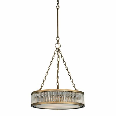Linden 3-Light Drum Pendant Finish: Aged Brass