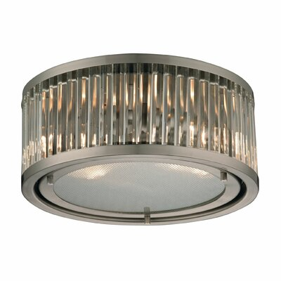 Linden 2-Light Flush Mount Finish: Brushed Nickel