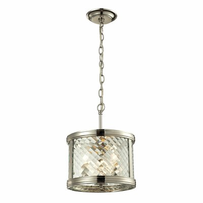 Chandler 3-Light Drum Pendant Finish: Polished Nickel