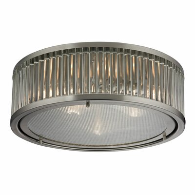 Linden 3-Light Flush Mount Finish: Brushed Nickel