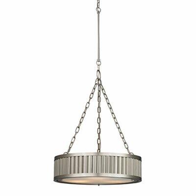 Linden 3-Light Drum Pendant Finish: Brushed Nickel, Bulb Type: 100W Med. Bulb