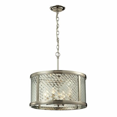 Chandler 4-Light Drum Pendant Finish: Polished Nickel