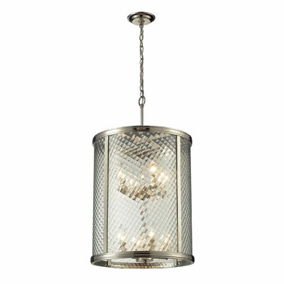 Markowitz 8-Light Drum Pendant Finish: Polished Nickel
