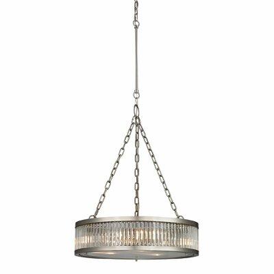 Linden 3-Light Drum Pendant Finish: Brushed Nickel