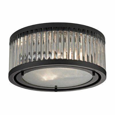 Linden 2-Light Flush Mount Finish: Oil Rubbed Bronze