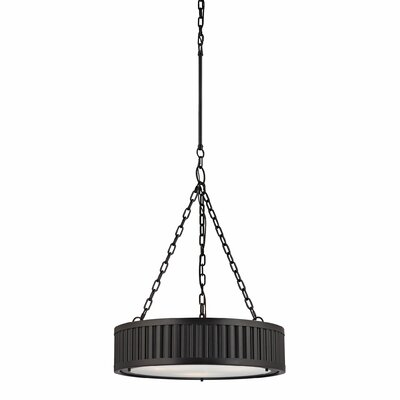 Linden 3-Light Drum Pendant Finish: Oil Rubbed Bronze, Bulb Type: 100W Med. Bulb