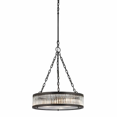 Linden 3-Light Drum Pendant Finish: Oil Rubbed Bronze