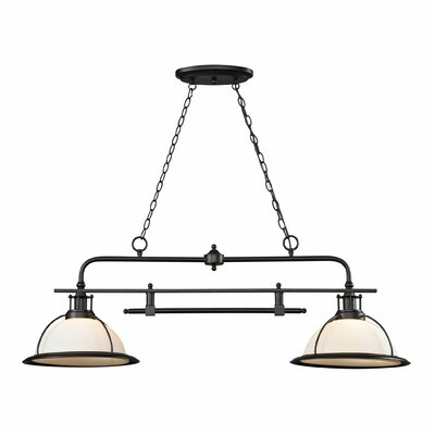 Wilmington 2-Light Kitchen Island/Billiard Pendant Bulb Type: 100W Med. Bulb