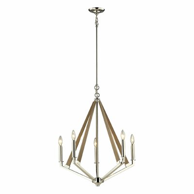 Madera 5-Light Candle-Style Chandelier