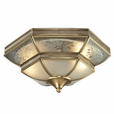French Damask 2-Light Flush Mount