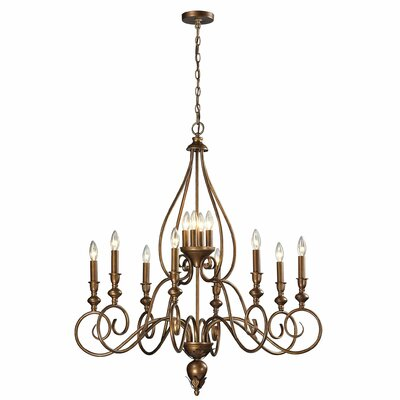 Lunsford 12-Light Candle-Style Chandelier