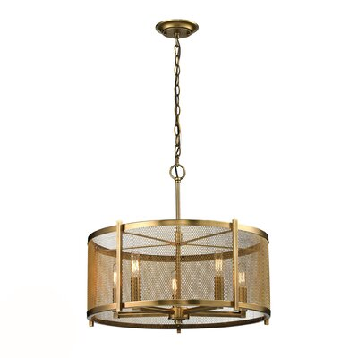 Goulds 5-Light Drum Pendant