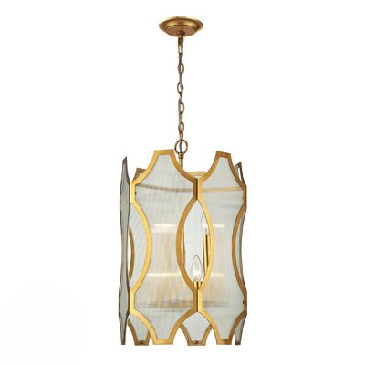 Hazeltine 6-Light Drum Pendant Finish: Antique Gold