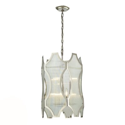 Hazeltine 6-Light Drum Pendant Finish: Polished Nickel