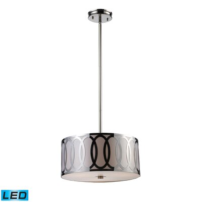 Anastasia 3-Light Drum Pendant Bulb Type: LED