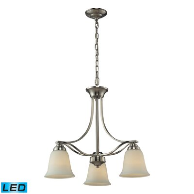 Hullinger 3-Light Mini Chandelier Bulb Type: LED