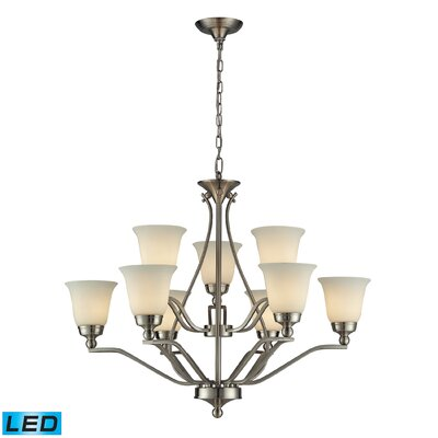 Tompkins 9-Light Candle-Style Chandelier Bulb Type: LED