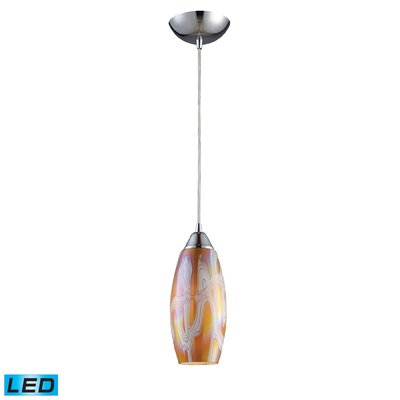 Iridescence 1-Light Pendant Finish: Golden, Bulb Type: LED