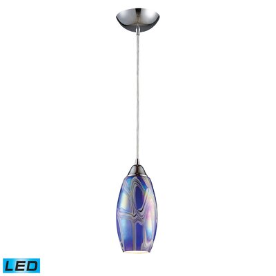 Iridescence 1-Light Pendant Finish: Storm Blue, Bulb Type: LED